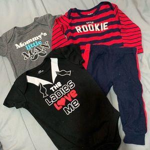 Assorted 3-6 mos boys clothing